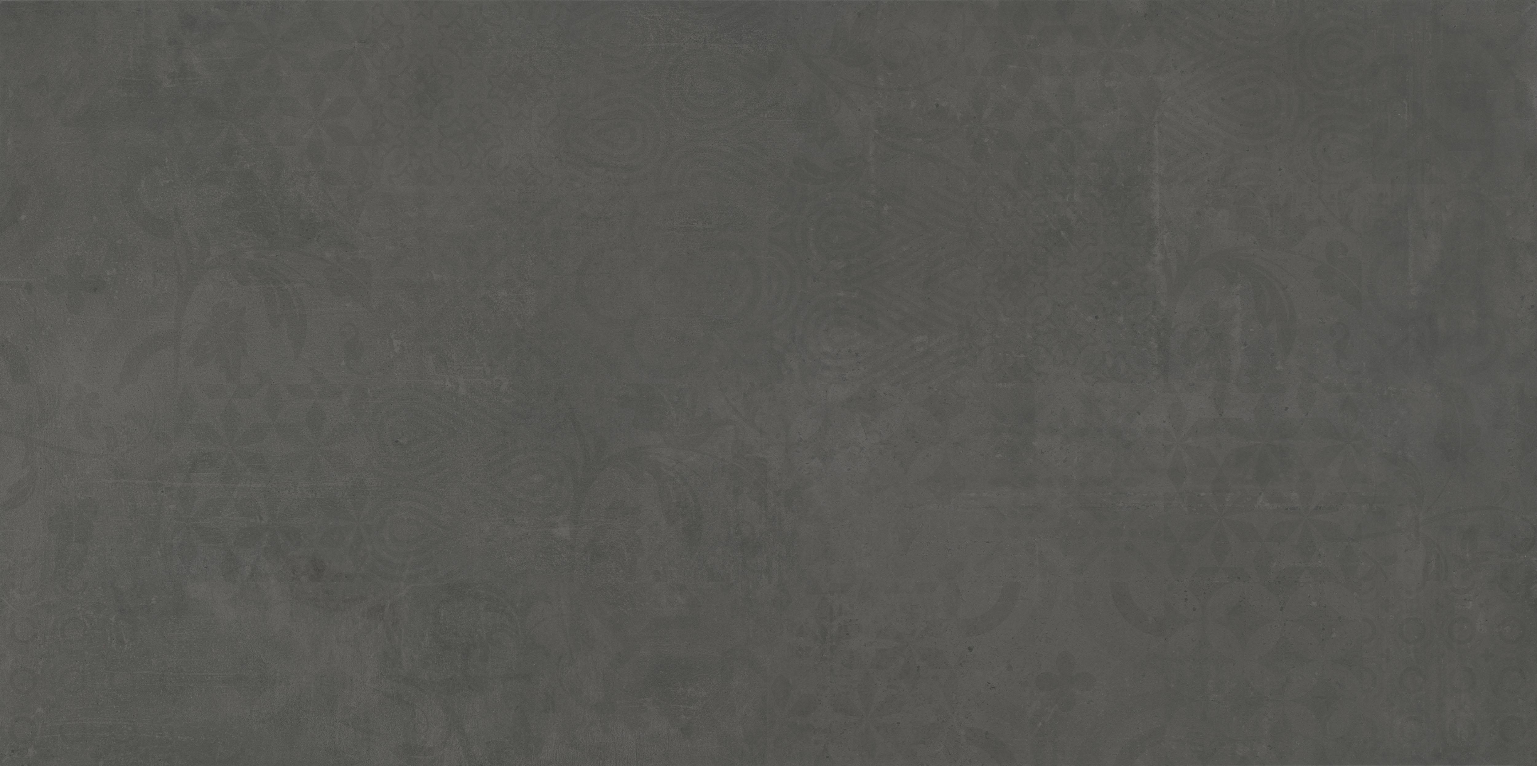 anthrazit Betonfliese mit Dekor 120x60, anthracite concrete effect tile with decor 120x60