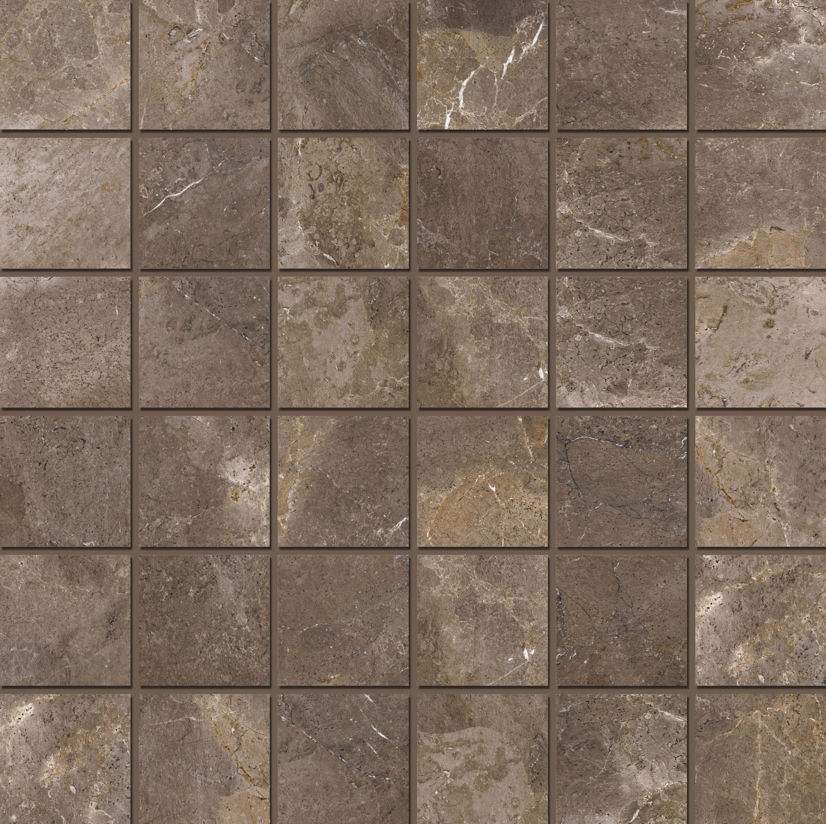 Mosaic 4,7x4,7 Imperial Brown