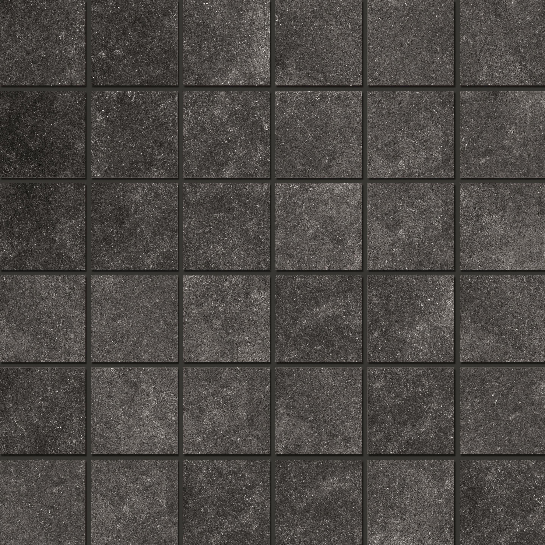 Mosaic 4,7x4,7 Black Chiffon