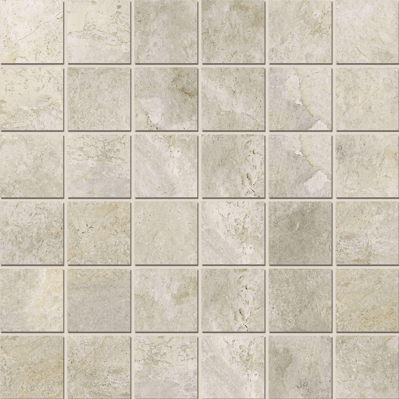 Mosaic 4,7x4,7 Platinum White